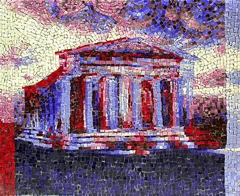 temple of apollo 1954, mosaic, bachor