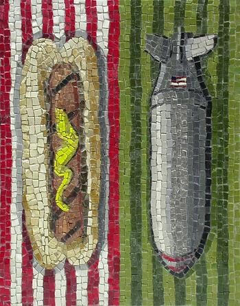 hot dog bombs, mosaic, bachor