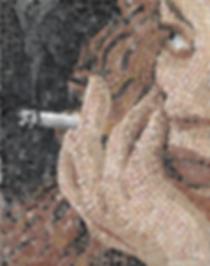 smoking #2, mosaic, bachor