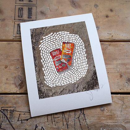 """""""Hot Sauce Packets"""" signed print"""