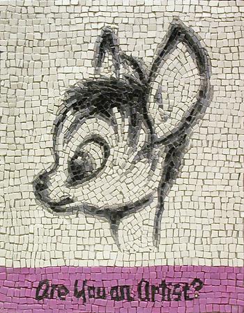 are you an artist #1, mosaic, bachor