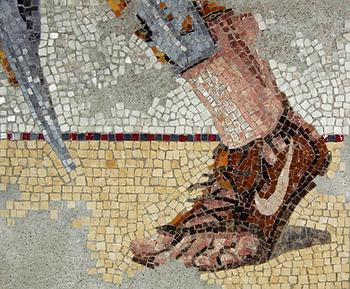 evidence of nike, mosaic, bachor