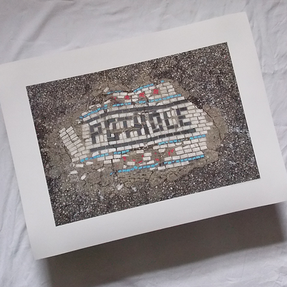 Original Pothole signed print