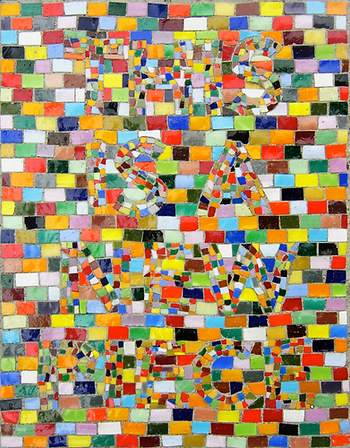 This is a new piece, mosaic, bachor