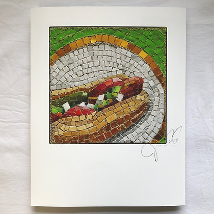 """Perpetual Hot Dog"" signed & numbered limited edition print"