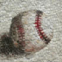 baseball, mosaic, bachor