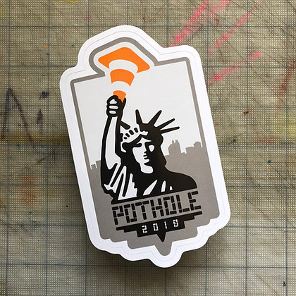 NYC Pothole Sticker