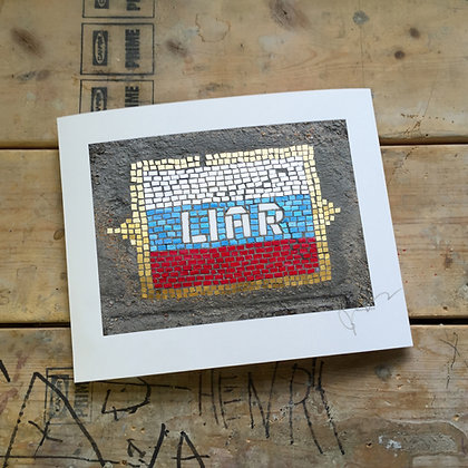 """LIAR"" signed print"