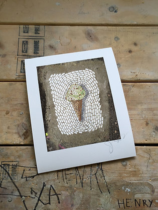Single Scoop Cone signed print