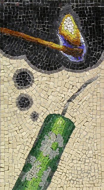 cracker thinking, mosaic, bachor