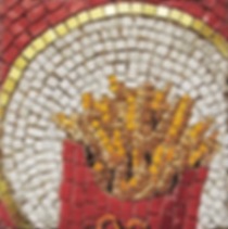 perpetual french fries, mosaic, bachor