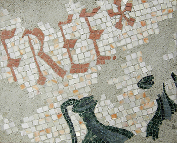 evidence of the first use of free, mosaic, bachor