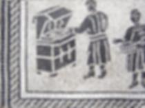 ancient fryer instruction?, mosaic, bachor