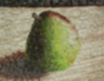 single pear, mosaic, bachor