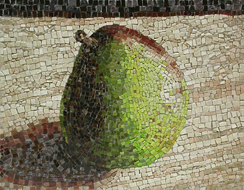 single pear, mosaic, bachor