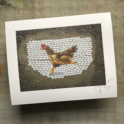 """The actual chicken that crossed the road"" signed numbered limited edition print"