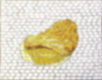 super realistic potato chip, mosaic, bachor