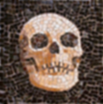 skull, mosaic, bachor