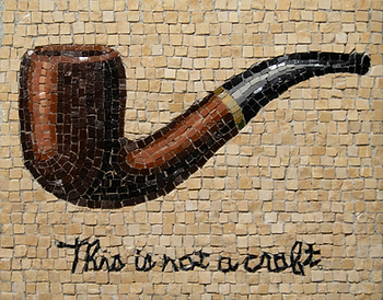 this is not a craft, mosaic, bachor