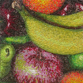 fruit party, mosaic, bachor
