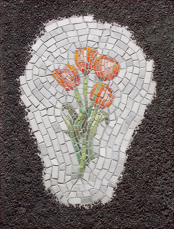 Flower Pot Hole (tulips), mosaic, bachor