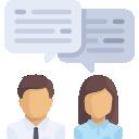 Ícone de pessoas falando