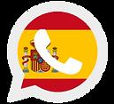 ícone whatsapp com bandeira espanhola