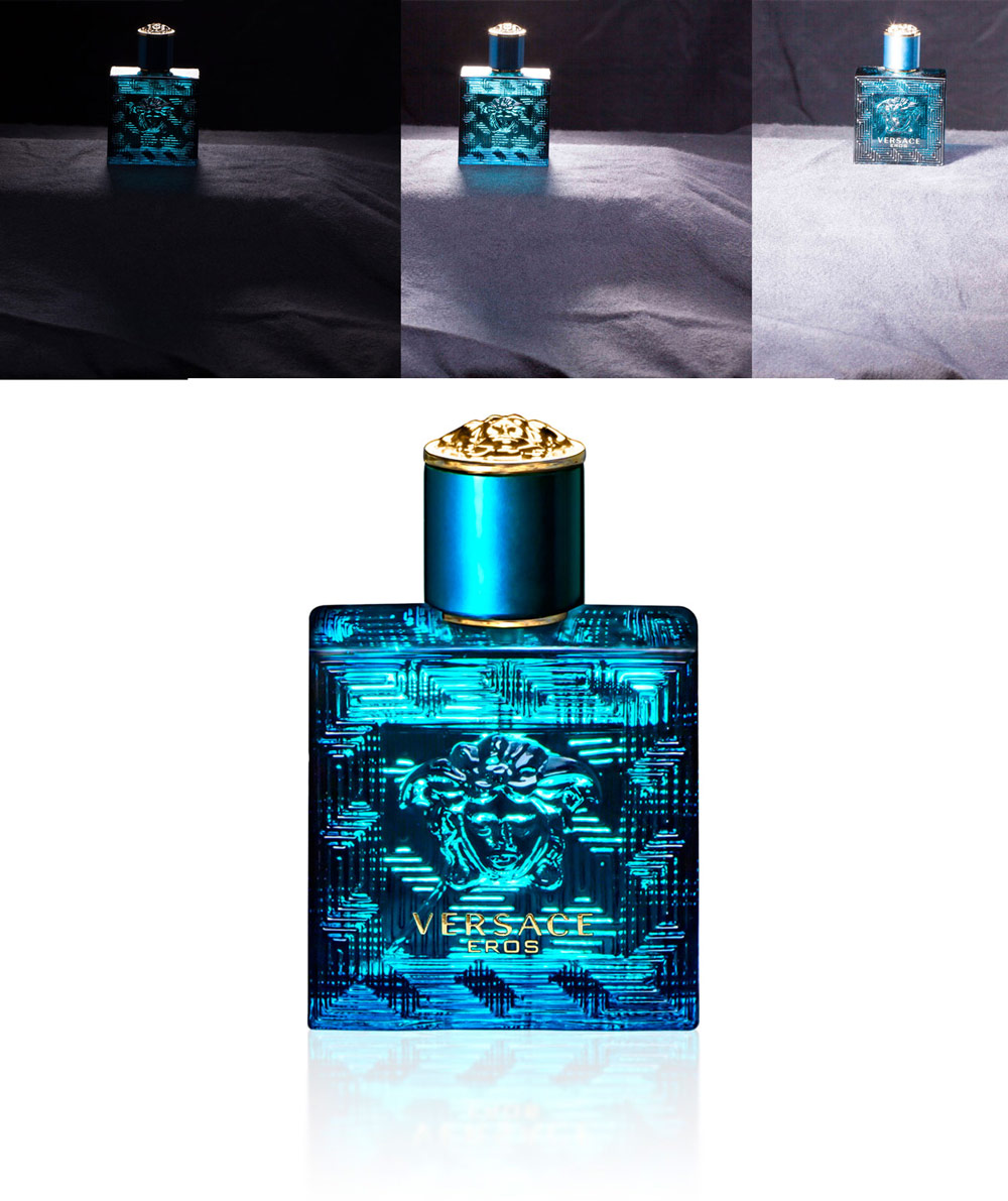Versace Cologne Focus Stacking