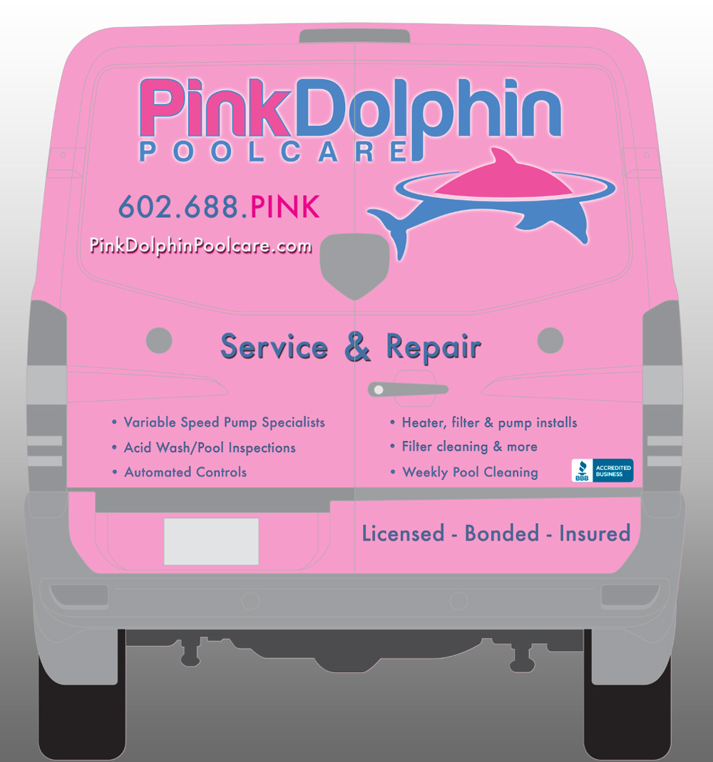 Pink Dolphin rear design