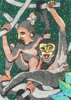 Turning to a monkey