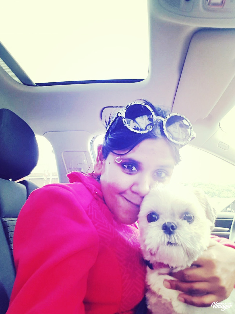 Me and Mishka ready to go for a drive