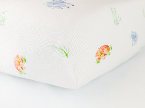 Bamboo Forest Fitted Cot Bed Sheet