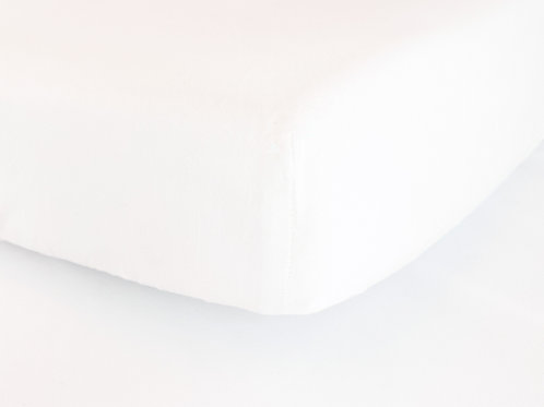 White Fitted Cot Bed Sheet
