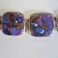 Silver & Covelite Bracelet