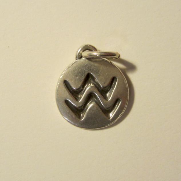 Silver Zodiac Aquarius Pendant