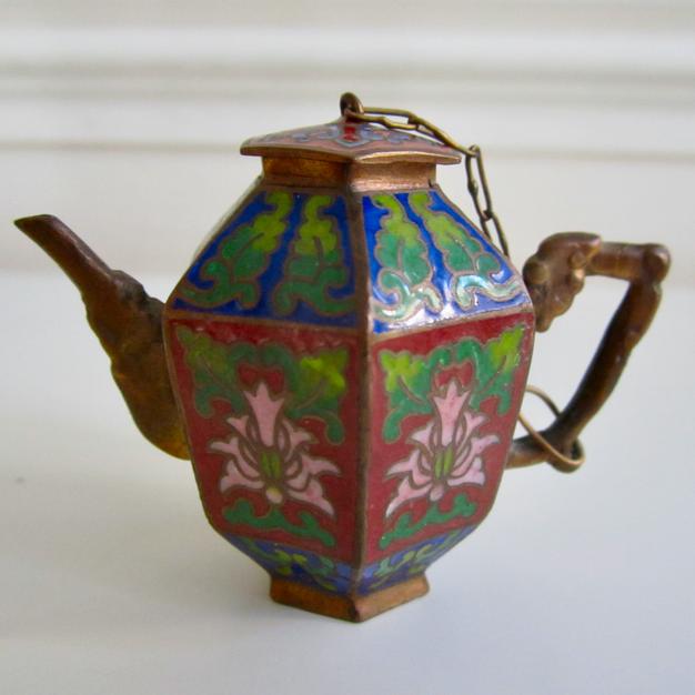 Miniature Cloisonne Teapot