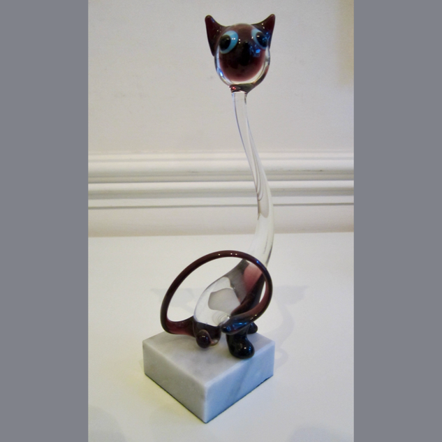 Murano Glass Siamese Cat
