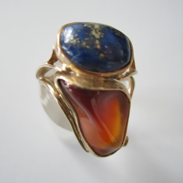 Cornelian & Lapis Ring