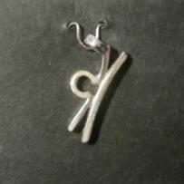 Zodiac Glyph Libra Pendant