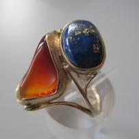 Cornelian & Lapis Ring.