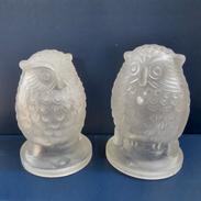 Art Deco Glass Owls
