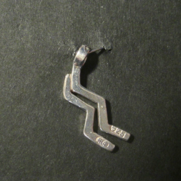 Zodiac Glyph Aquarius Pendant