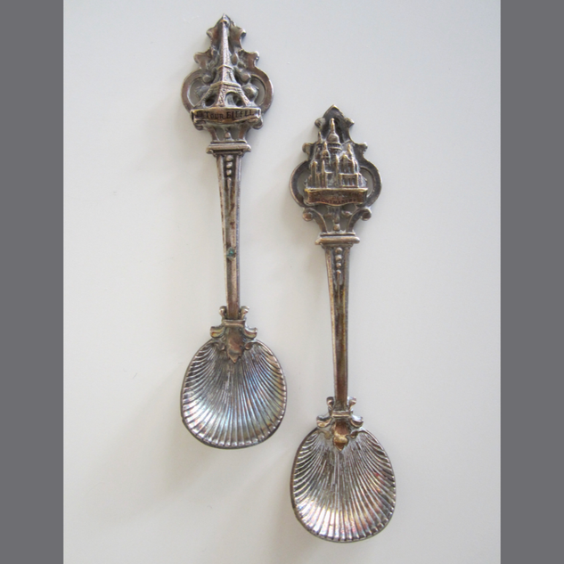 French 19th Century Salt Spoons