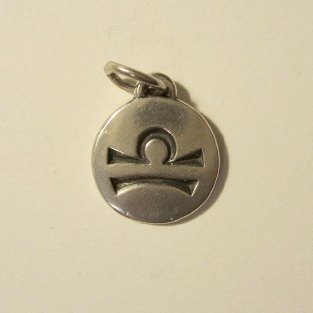 Silver Zodiac Libra Pendant
