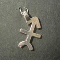 Zodiac Glyph Sagittarius Pendant