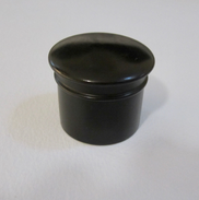 Edwardian Ebony Lidded Jar