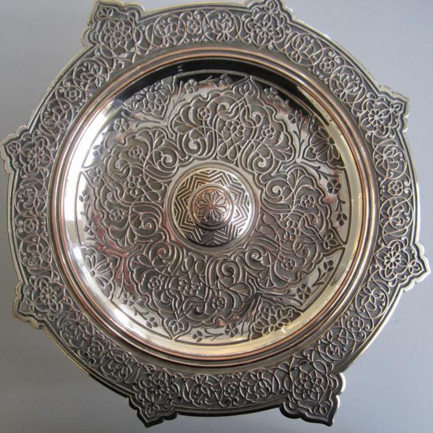 Elkington Silver On Copper Tassa
