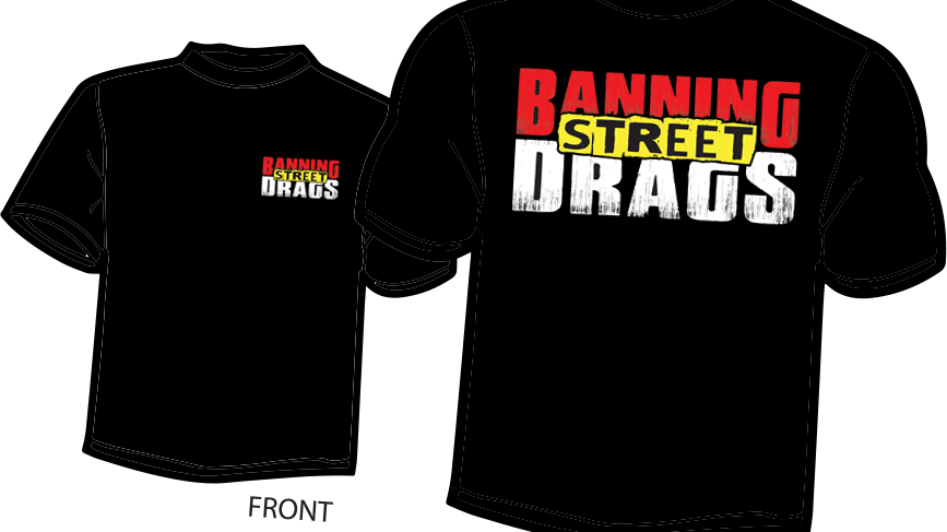 BANNING STREET DRAGS Logo T-Shirt