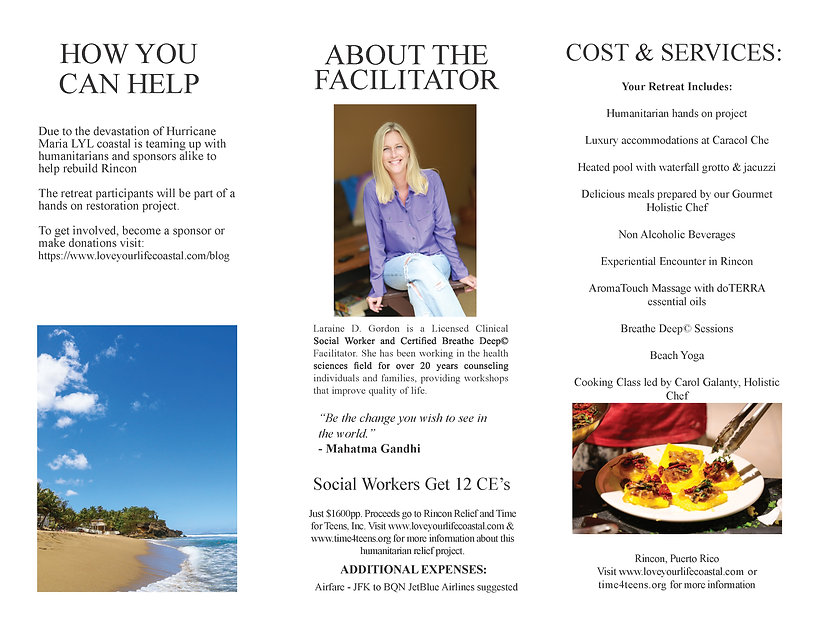 Restore & Rejuvenate Retreat Brochure