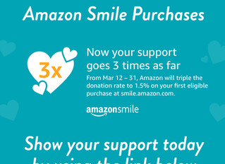 AmazonSmile TRIPLES their donation rate from March 12th - 31st